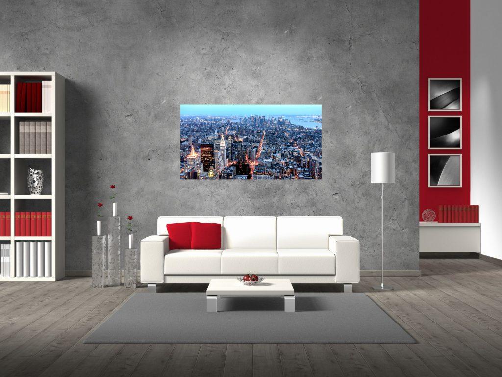 new york skyline muur